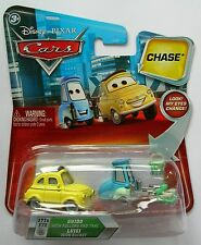 Disney Pixar Cars CHASE LUIGI & GUIDO With Rollers & Tray Mega Rare UK !!
