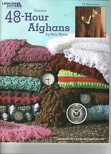 48-Hour Afghans  ~   Crochet Book  ~ Leisure Arts