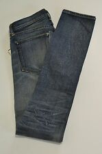 NWT RRL DOUBLE RL BY RALPH LAUREN BLUE FADED COTTON SKINNY JEANS SIZE 27