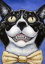 ��Cat Clown Halloween Makeup Creepy Costume Scary Mask ACEO ATC Original Print��