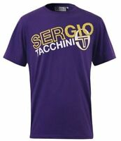 "SERGIO TACCHINI MENS MORITZ GRAPHIC T-SHIRT SIZE S 37-39"" PURPLE *BNWT*"