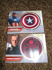 Captain America First Avenger Patch Costume Trading Card Lot Captain Red Skull