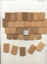 Fashion Dollhouse Hexagon Roofing Shingles 378pcs. Cedar #41A 1/8 scale USA