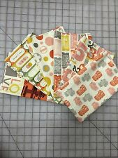 OOP Julie Comstock Moda 2wenty-Thr3e Fabric Fat Quarter Bundle in Parchment
