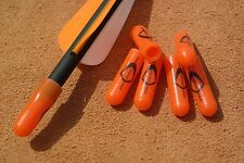 6 x Genuine US Made Pocket Shot Orange Arrow Nock Caps - catapult slingshot