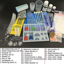 22pcs/set DIY Crystal Jewelry Mold Pendant Silicone Ornament Resin Craft Making