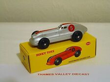 ATLAS EDITIONS DINKY TOYS, 23 B, HOTCHKISS RACING CAR, SILVER, + CERT OF AUTH