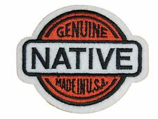 GENUINE NATIVE EMBROIDERED PATCH Iron-on NEW Made in U.S.A. Cool Free Ship Biker