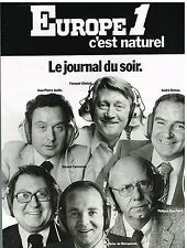Publicité Advertising 1977 Radio Europe 1 Le Journal du Soir