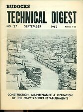 Budocks Technical Digest US Navy newsletter #27 September 1952 Key West FL