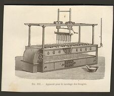 INDUSTRIE INDUSTRY FABRICATION DES BOUGIES MOULAGE IMAGE PRINT 1875