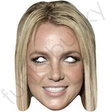 Britney spears celebrity chanteur américain carte masque-toutes nos masques sont pré-coupé!