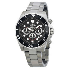 Invicta Signature II Chronograph Black Dial Steel Mens Watch 7366
