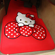 *** Red Hello Kitty Little Bow Waterproof Car Mats ***