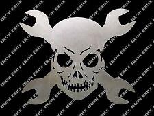 Skull & Cross Wrenches Metal Wall Art Garage Hot Rat Rod Chopper Christmas Gift
