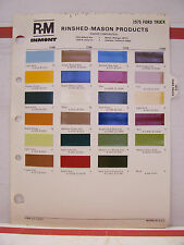 1975 Ford Truck Pickup Paint Chips Color Chart R-M 75