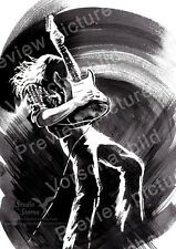 Rory Gallagher Poster A4 Musik Kunst art print rock star blues music guitar