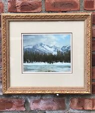"Lorenzo Chavez Pastel Mountain Landscape Painting. ""Spring Storm"". Signed"