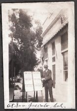 VINTAGE 1926 SAN JACINTO CALIFORNIA STREET SCENE FOR SALE REAL ESTATE SIGN PHOTO