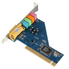 4-Kanal C-Media 8738 Chip 3D-Audio Stereo Interne PCI-Soundkarte Win7 64 Bit GY