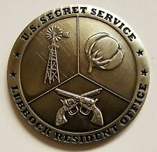 """USSS United States Secret Service Lubbock, Texas Resident Office 1.75"""""""