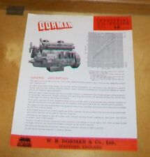 DORMAN INDUSTRIAL OIL ENGINE TYPE 6K 13,741cc SPECIFICATION  LEAFLET