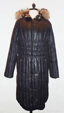 MISSONI DUCK DOWN PUFFER COAT WITH FUR HOOD - SIZE 46 (GB 14) - GOOD ORDER