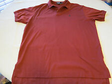 Polo by Ralph Lauren Men's short sleeve polo shirt XL lt burgandy cotton GUC@