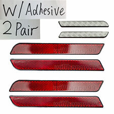 2 Pair RED Reflectors adhesive for Harley Latch Cover Saddlebag Side Visibility