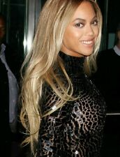 Beyonce  celebrity golden blonde lace front wig.100% Human hair blend