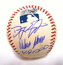 Madison Bumgarner Danny Duffy Carlos Santana Auto Autograph Signed Ball Baseball
