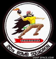 USAF 20th BOMB SQUADRON - B-52 - Barksdale AFB, LA - ORIGINAL VELCRO PATCH