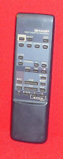 ORIGINAL GENUINE SHARP VCR VIDEO CASSETTE RECORDER VTR REMOTE CONTROL G0961GE