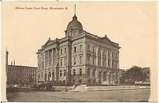 McLean County Court House in Bloomington IL Postcard