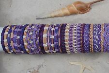 30 PIECES MIX PURPLE LEATHER SURF FRIENDSHIP BRACELETS WRISTBAND WHOLESALE /b058