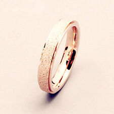 Charm Frosted Men Women Wedding Band Ring Jewelry Gift Stainless Steel Size 7-11