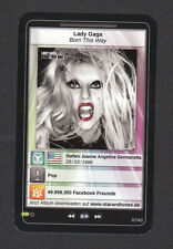 Lady Gaga StarTunes Pop Music Card Look! from Germany