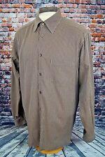 Ermenegildo Zegna Men's Custom Italian Luxury Dress Shirt Woven Stripe L Large