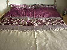 NEXT KING SIZE DUVET COVER WITH TWO PILLOWCASES AND MATCHING CURTAINS IN PLUM