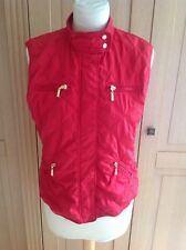 LOVELY ZARA BASIC BRIGHT RED GILET UK SIZE 12 WORN GOOD CONDITION