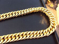 "26""L 15mm Chunky Chain 18K Yellow Gold Plated Necklace & Box Street Mafia Style"