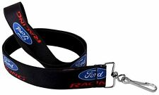 "Lanyard 1"" Key Chain Ring Neck Ford Racing Mustang SVT Logo Black White Red"