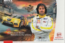 Yvan Muller Seat World Touring Car Promo Card WTCC.