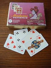 Madame Patience/Ferd Piatnik & Sons Double Pack Miniature Playing Cards in Box