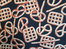 Pretzels Snacks Pretzel Snack Food Cotton Fabric FQ