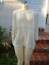 STELLA MCCARTNEY SHEER DRAWSTRING OVERSIZED SHORTSLEEVE TOP SZ 44 MADE IN ITALY