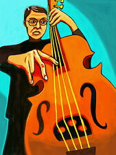 CHARLIE HADEN PRINT poster jazz complete recordings cd upright string bass maple