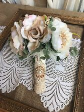 Wedding Bridal Bouquet Set Decoration Package Silk Flowers CHAMPAGNE CREAM Bout