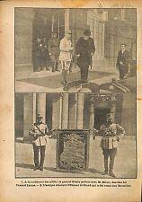 Conférence des Alliés Général Pétain Ribot Amiral Lacaze   WWI 1917 ILLUSTRATION