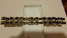 "BRAND NEW CADILLAC ""ELDORADO DORAL"" BY E&G GOLD METAL EMBLEM SET"